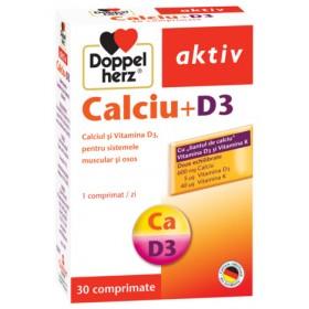 DOPPELHERZ CALCIU CU VITAMINA D3 X 30 COMPRIMATE