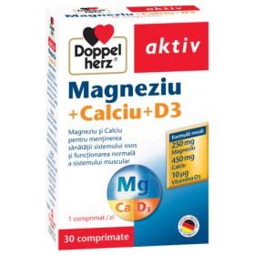DOPPELHERZ MAGNEZIU CALCIU VITAMINA D3 X 30 TABLETE