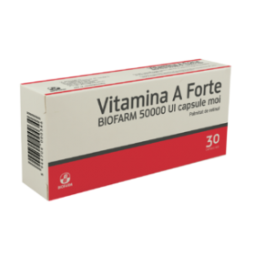 VITAMINA A FORTE BIOFARM 50000 UI x 30