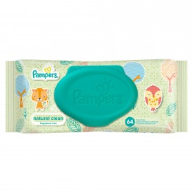 PAMPERS SERVETELE BABY NATURAL CLEAN X 64BUC