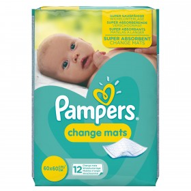 PAMPERS CHANGE MATS SUPER ABSORBANT X 12BUC