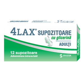 4LAX ADULTI SUPOZITOARE CU GLICERINA  X 12 BUCATI SOLACIUM