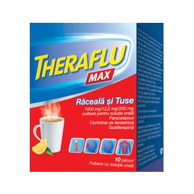 THERAFLU MAX RACEALA SI TUSE 1000 mg/12,2 mg/200 mg x 10