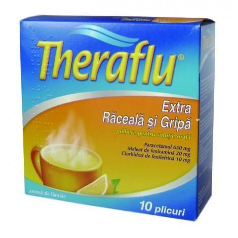 THERAFLU EXTRA RACEALA SI GRIPA 650 mg/20 mg/10 mg x 10