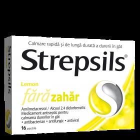 STREPSILS LEMON FARA ZAHAR x 24