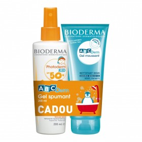 BIODERMA PHOTODERM KID SPUMA SPF 50+ X 150 ML CADOU ABCDERM GEL SPUMANT X 200ML