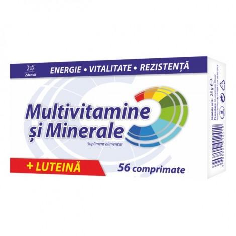 ZDROVIT MULTIVITAMINE SI MINERALE CU LUTEINA X 56 COMPRIMATE