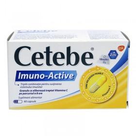 CETEBE IMUNO-ACTIVE (VIT. C,ZINC,VIT. D) 60 CAPSULE