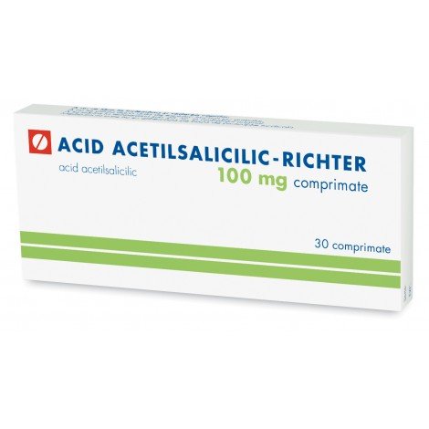 ACID ACETILSALICILIC   RICHTER 100 mg x 30