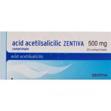 ACID ACETILSALICILIC ZENTIVA 500 mg x 20