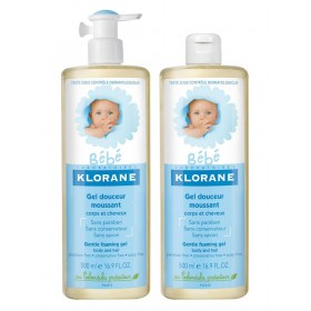 KLORANE BEBE GEL SPUMANT DUO PACK 2x500ML