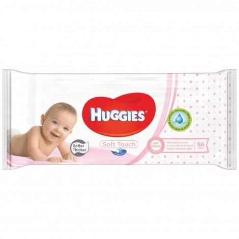 HUGGIES SERVETELE UMEDE SOFT 56 BUCATI