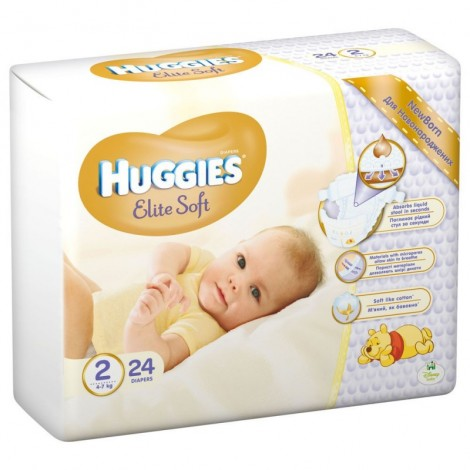 HUGGIES ELITE SOFT NR 2 (4-7 KG) 24 BUCATI