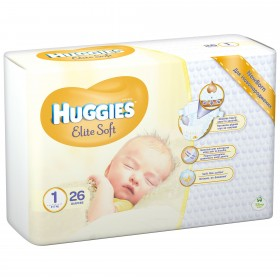 HUGGIES ELITE SOFT NR 1 (2-5 KG) 26 BUCATI