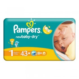 PAMPERS ACTIVE BABY NR 1 43 BUCATI NEWBORN
