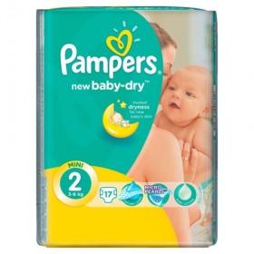 PAMPERS ACTIVE BABY NR 2 17 BUCATI 3-6 KG