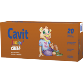 CAVIT JUNIOR CAISE 20 TABLETE MASTICABILE  BIOFARM