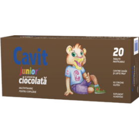 CAVIT JUNIOR CIOCOLATA X20 TABLETE MASTICABILE BIOFARM